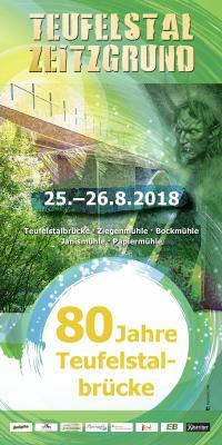 Vorschaubild zur Meldung: 80 Jahre Teufelstalbrücke-25.-26.08.2018 großes Fest mit grün-weißen Sonderzug