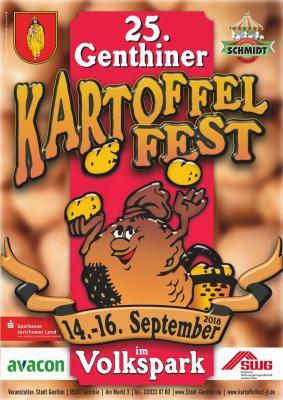 Vorschaubild zur Meldung: Jubiläumsfest in der Stadt Genthin am Elbe-Havel-Kanal  25. Genthiner Kartoffelfest vom 14. bis 16. September 2018