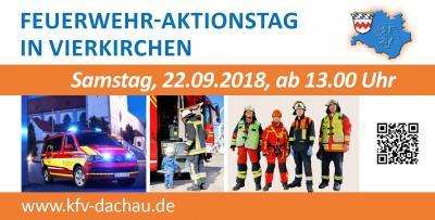 Foto zur Meldung: Feuerwehraktionstag des Landkreises Dachau am 22.09.2018 in Vierkirchen