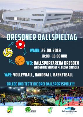 Vorschaubild zur Meldung: 1. gemeinsamer Ballsporttag Handball/Volleyball/Basketball am 25.08. in Dresden