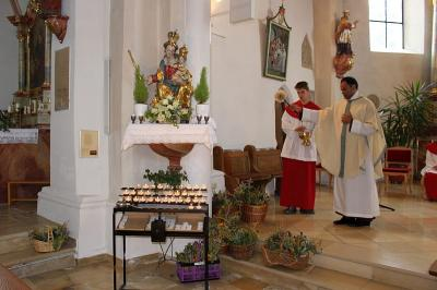 Foto zur Meldung: Das Fest Maria Himmelfahrt wurde am Mittwoch sehr feierlich gestaltet