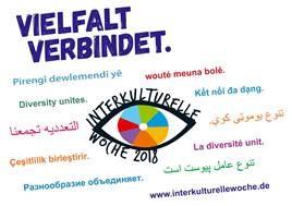 """Foto zu Meldung: Interkulturelle Woche 2018 unter dem Motto - """"VIELFALT VERBINDET - Wir sind Hoffnung. Wir sind Zuflucht. Wir sind Vielfalt."""""""