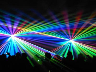 Foto zur Meldung: 27. Calauer Stadtfest: Laser-Spektakel zum Auftakt des Festwochenendes