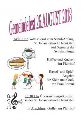 Foto zur Meldung: Gemeindefest - Ev.-Luth. Kirchengemeinde Neukalen