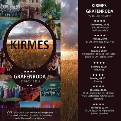 Foto zur Meldung: Kirmes in Gräfenroda 27.09. bis 03.10.2018