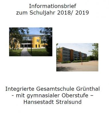 Vorschaubild zur Meldung: Informationsbrief zum Schuljahresbeginn 2018/ 2019
