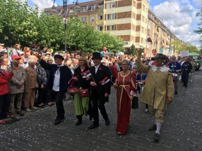 Historische Persönlichkeiten aus Wittstock beim Landesfest in Wittenberge.