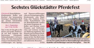 Vorschaubild zur Meldung: Sechstes Glückstädter Pferdefest