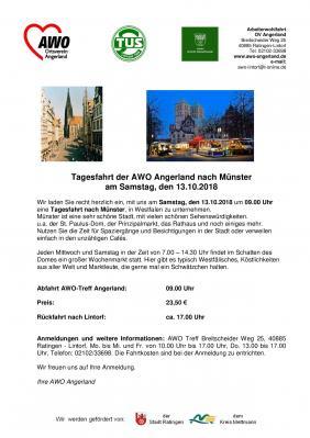 Vorschaubild zur Meldung: --- 13.10. Tagestour nach Münster ---