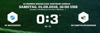 Vorschaubild zur Meldung: Fußball: Altherren verlieren deutlich gegen Ilmetal - Mittwoch kommt Hils/Selter