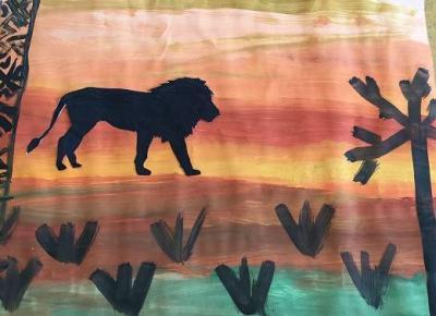 Tiere in Afrika (Klasse 5)