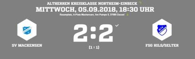 Vorschaubild zur Meldung: Fußball: Erster Punkt für die Altherren beim 2:2 gegen Hils/Selter