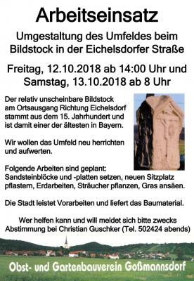 Vorschaubild zur Meldung: OGV Arbeitseinsatz Bildstock Eichelsdorfer Str.