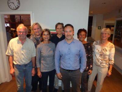 Der neue Vorstand von links: Ingo, Christina, Aenne, Astrid, Stefan, Kathrin und Annegret