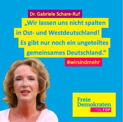 Dr. Gabriele Schare-Ruf, Kreisvorsitzende der FDP in Ostprignitz-Ruppin