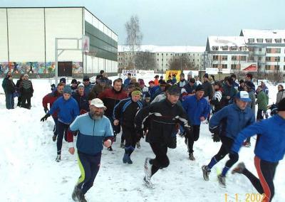 Foto zur Meldung: Neujahrspaarlauf - 3. Lauf 2001/02