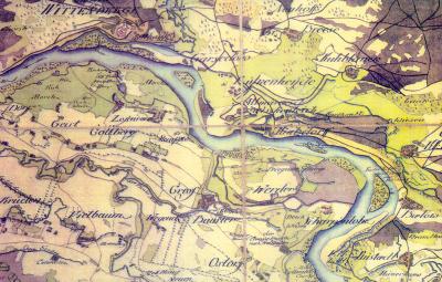 Die Elbe bei Wittenberge, 1767 | Bild: Hubert Finke
