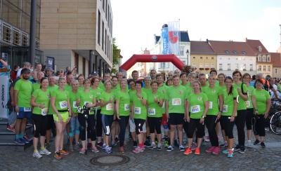 Foto zu Meldung: 8. RWK-Firmenlauf: 40 Läufer gingen für die Kreisverwaltung OSL an den Start