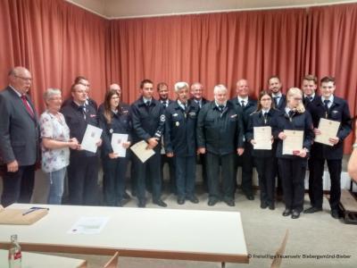 Foto zur Meldung: Außerordentliche Hauptversammlung der Freiwilligen Feuerwehr Biebergemünd