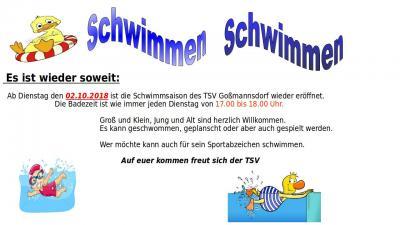 Vorschaubild zur Meldung: TSV Schwimmsaison eröffnet