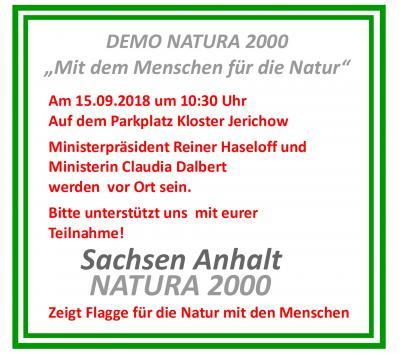 Foto zur Meldung: DEMO Natura 2000 mit den Menschen für die Natur