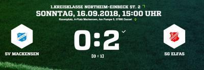 Vorschaubild zur Meldung: Fußball: 1. Mannschaft verliert erneut gegen Elfas