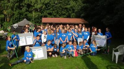 Foto zur Meldung: Wassercamp im Wildpark Eekholt: Naturwissenschaftliches Arbeiten und Renaturierungen