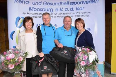 von links: 1. Bürgermeisterin Anita Meinelt, Georg Hadersdorfer, Martin Hofmair, Präsidentin BVS Bayern Diana Stachowitz