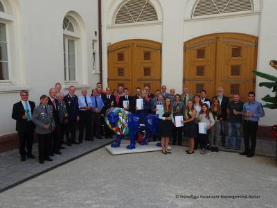 Foto zur Meldung: Jugendfeuerwehr Biebergemünd - Ehrung in Wiesbaden