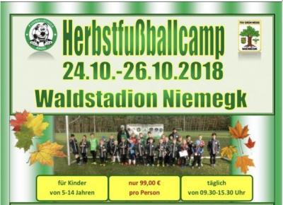Foto zur Meldung: Pressemitteilung: Herbstfußballcamp 2018