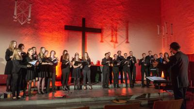 Foto zur Meldung: Konzertrückblick: »accentus vocalis« bei den VilBelMonte-Konzerten auf dem Heilsberg