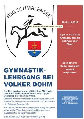 Foto zur Meldung: Gymnastik-Lehrgang bei der Reitsportgemeinschaft