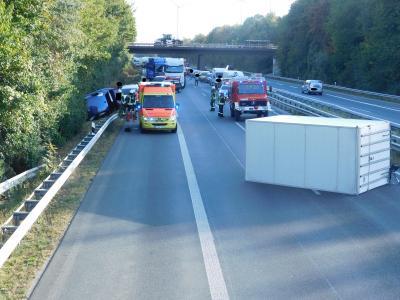Vorschaubild zur Meldung: +++Verkehrsunfall auf der A 63+++
