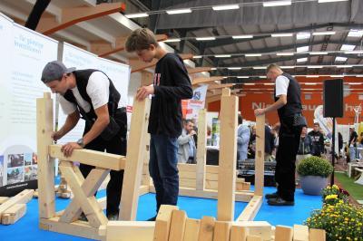 Lehrbauhof Großräschen auf dem Podium