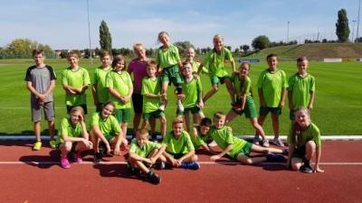 Foto zur Meldung: Tolle Teamstimmung beim Kreisfinale der Leichtathletik