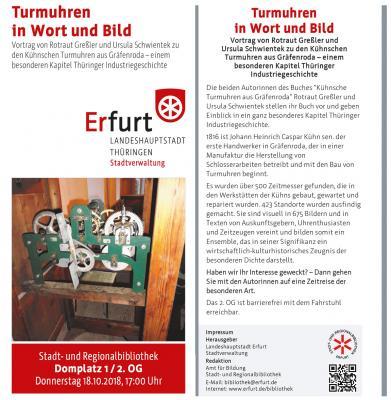 Foto zur Meldung: Turmuhren in Wort und Bild - Vortrag von Rotraut Greßler und Ursula Schwientek