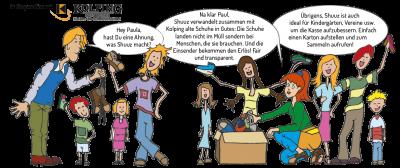 """Vorschaubild zur Meldung: neues Spendenprojekt der Kita """"SHUUZ"""" Gutes tun mit gebrauchten Schuhen"""