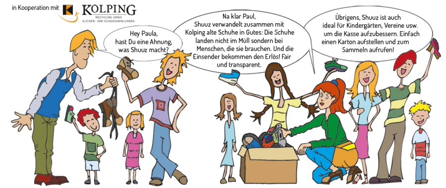 """Vorschaubild der Meldung: neues Spendenprojekt der Kita """"SHUUZ"""" Gutes tun mit gebrauchten Schuhen"""