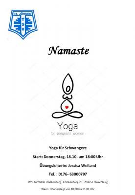 Vorschaubild zur Meldung: Neu beim TSV: Namaste-Yoga für Schwangere