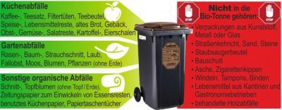 Vorschaubild zur Meldung: Bioabfall – ein wichtiger Rohstoff und Energieträger: Saubere Sammlung erforderlich, Verwertung beginnt schon beim Füllen der Bio-Tonne