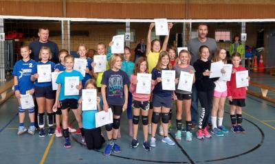Foto zur Meldung: Volleyball - Jugend u12 Spieltag