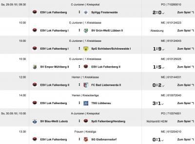 Vorschaubild zur Meldung: +++Ergebnisse Fußball vom Wochenende+++