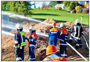 Vorschaubild zur Meldung: Feuerwehr Nachwuchs übt gemeinsam