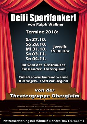 Flyer Theatervorführungen 2018