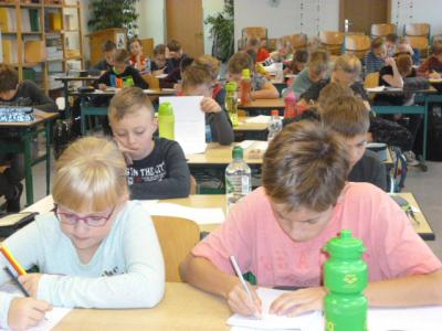 Foto zur Meldung: 2. Schulstufe der Mathematikolympiade