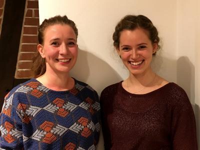 Katrin Hauschildt (li.) und Freya Müller (re.)