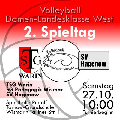 Foto zur Meldung: 2. Spieltag für Volleyballerinnen in Wismar