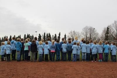 Beim diesjährigen Göhrdelauf liefen die Schüler im neuen Schul-T-Shirt
