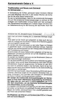 Information des KVO e.V.