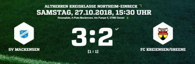 Vorschaubild zur Meldung: Fußball: Altherren gehen mit Sieg in die Winterpause